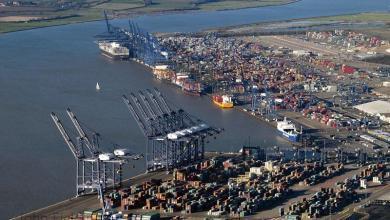 eBlue_economy_Maersk reroutes big cargo vessels away from Felixstowe, UK