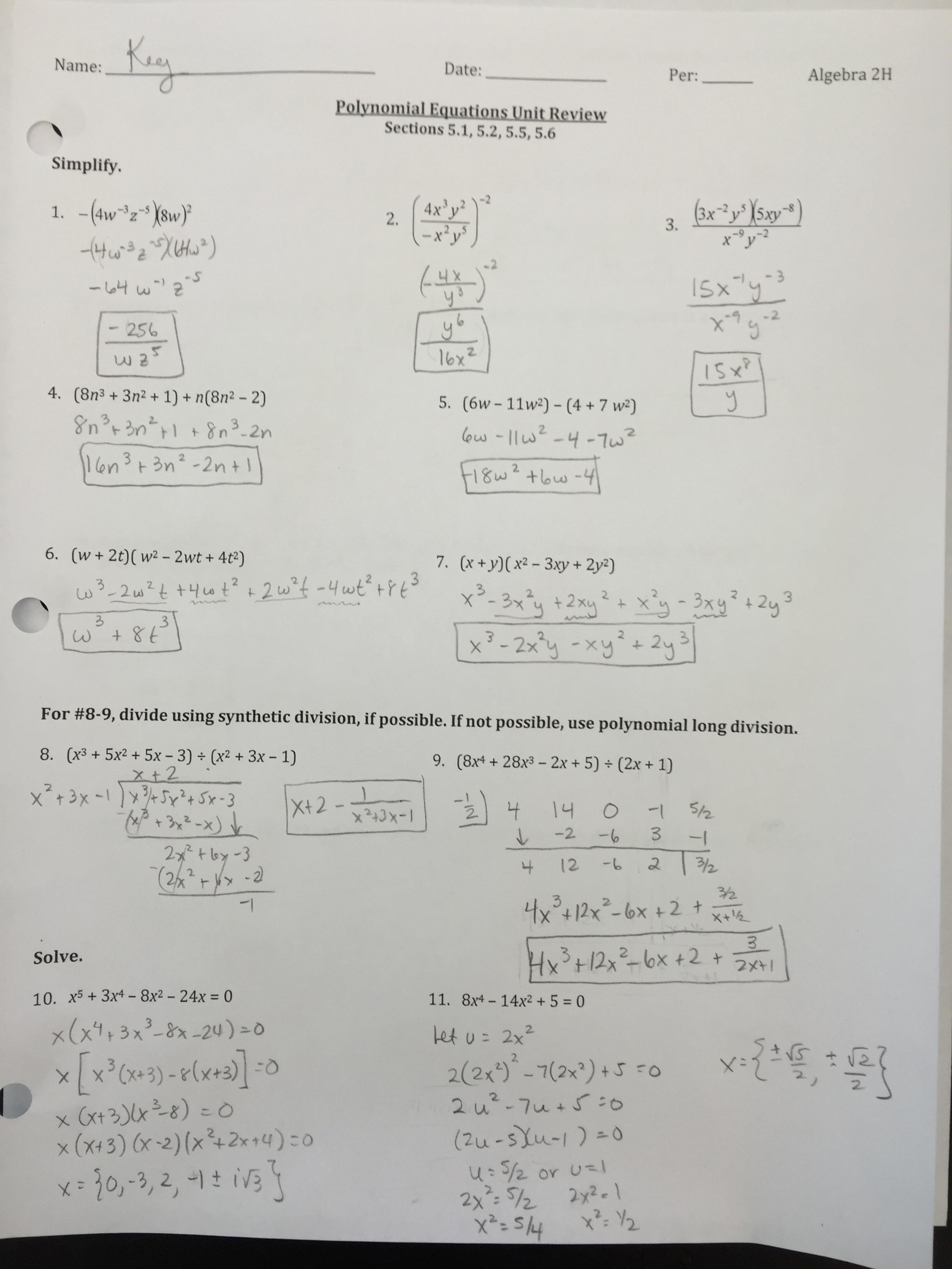 Crupi Erin Algebra 2 Honors