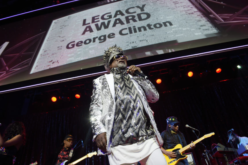Singer/Songwriter George Clinton performs onstage at the 2017 SESAC Pop Awards on April 13 in New York.  Photo: Jason Kempin/Getty Images for SESAC
