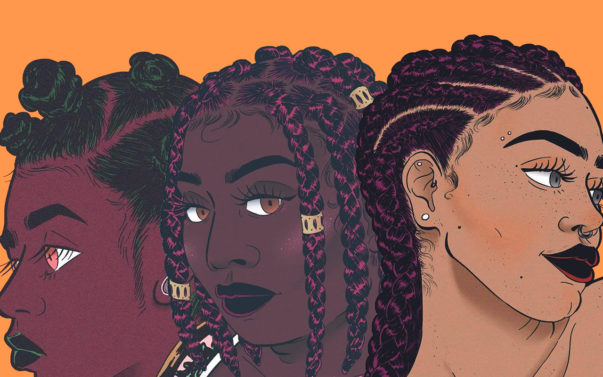 Rising Illustrator And Cartoonist Turns Black Hair Into