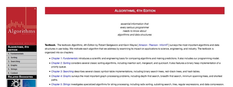 Algorithms, 4th Edition by Robert Sedgewick and Kevin Wayne