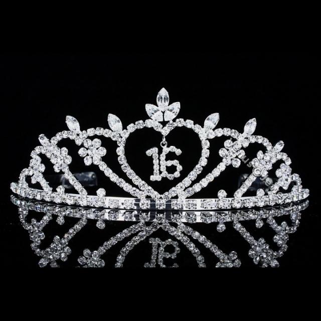 Sweet 16 Birthday Party Rhinestone Crystal Princess Crown Tiara 8499 608641040678 Ebay