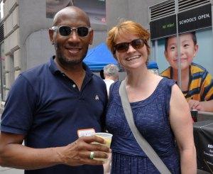 Seylwn Garray and Beth Ellen Dunphe, chief development officer of Metropolitan College of New York