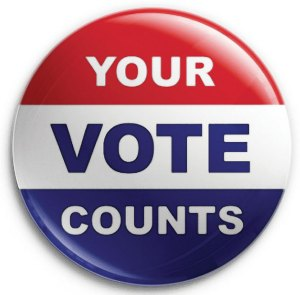 political button Your Vote Counts