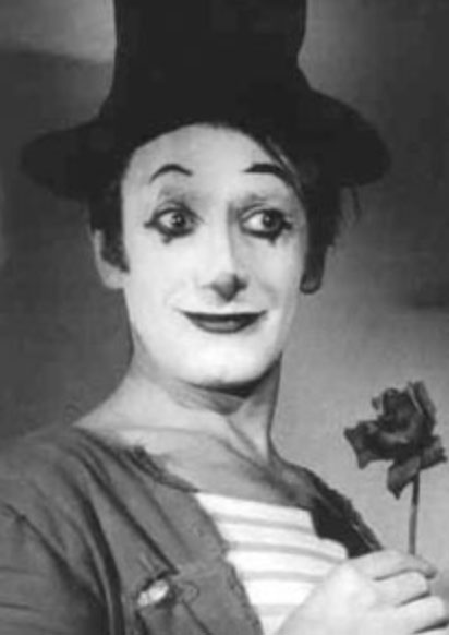 "Marcel Marceau ""Never get a mime talking. He won't stop."""