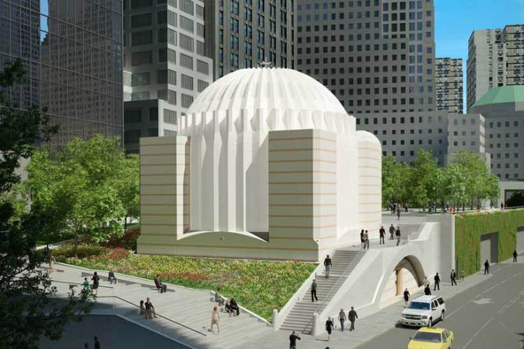 Prosecutors have begun to examine the finances of the St. Nicholas Greek Orthodox Church within the World Trade Center site, where construction work was halted in December, after cost overruns converged with alleged financial irregularities in the management of funds by the Greek Orthodox Archdiocese. The striking design (shown here in a rendering) by architect Santiago Calatrava, who also created the nearby Oculus, has made the structure one of Lower Manhattan's most eagerly anticipated new buildings.