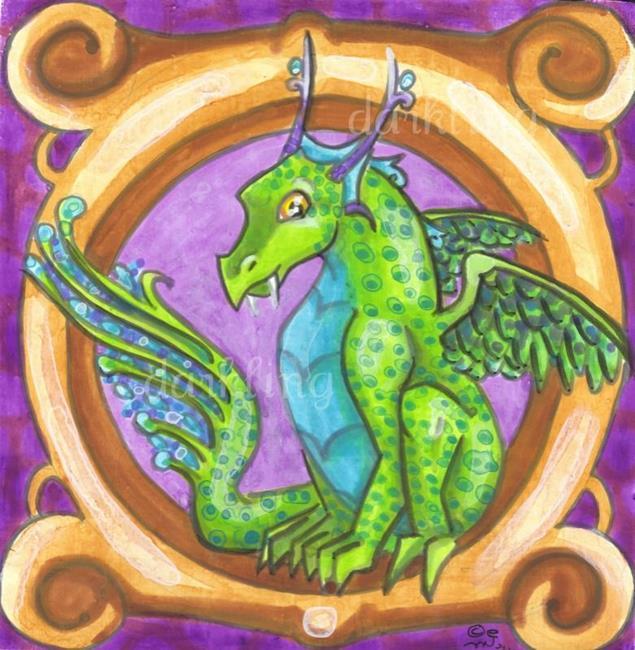 Dragon Square 7 by EBSQ Artist Emily J White