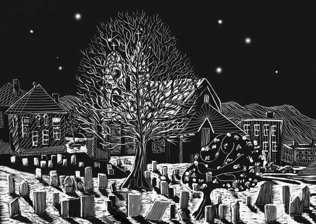 Village Cemetery by EBSQ Artist Naquaiya
