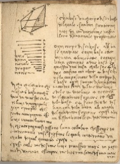 da Vinci's journal page flipped