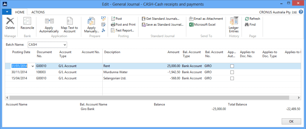 Cash Management im4 Microsoft Dynamics NAV 2013