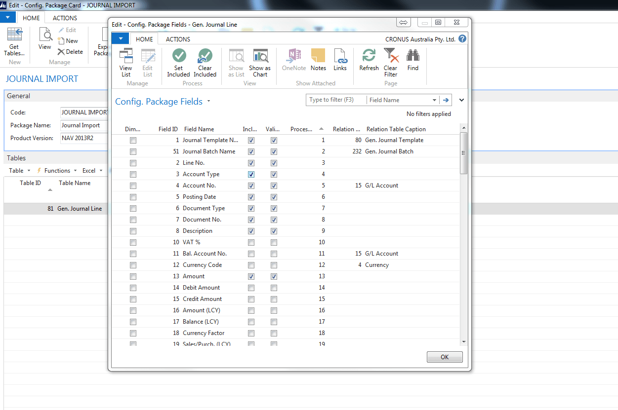 Excel journals and Microsoft Dynamics NAV Image 2