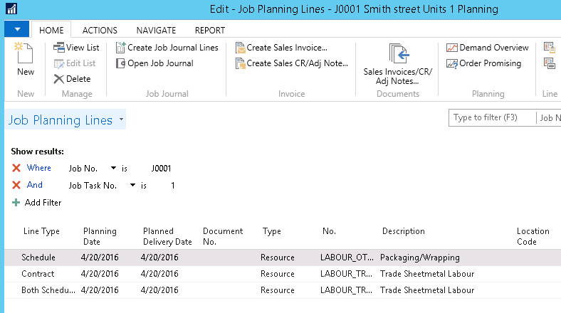Job costing in Microsoft Dynamics NAV 2016 im3