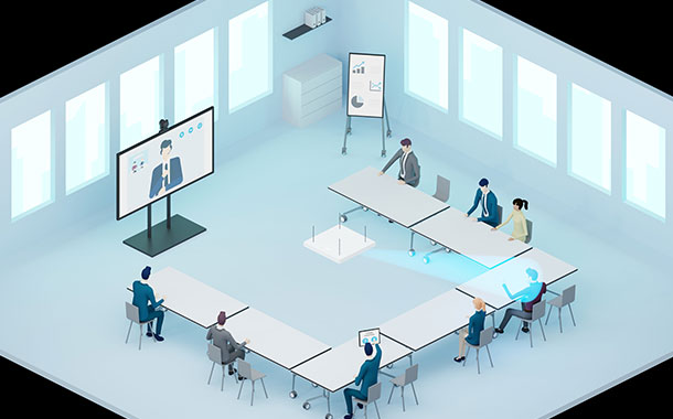 Sennheiser facilitates social distancing in meeting rooms with touchless audio