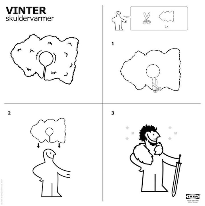 capa de Juego de tronos instrucciones de ikea