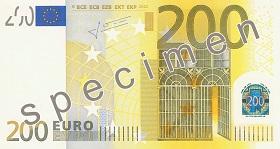 200 euro – strona przednia