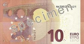 10 euro – strona odwrotna