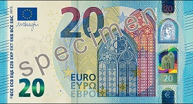 20 euro – strona przednia