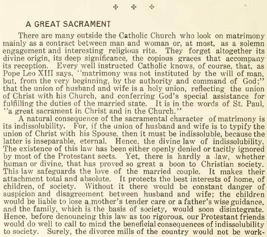 A Great Sacrament - May 1916