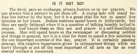 Is It Not So - May 1916
