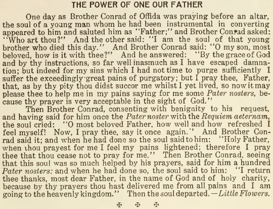 The Power of One Our Father - November 1916