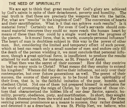The Need of Spirituality - The Franciscan Herald - October 1917