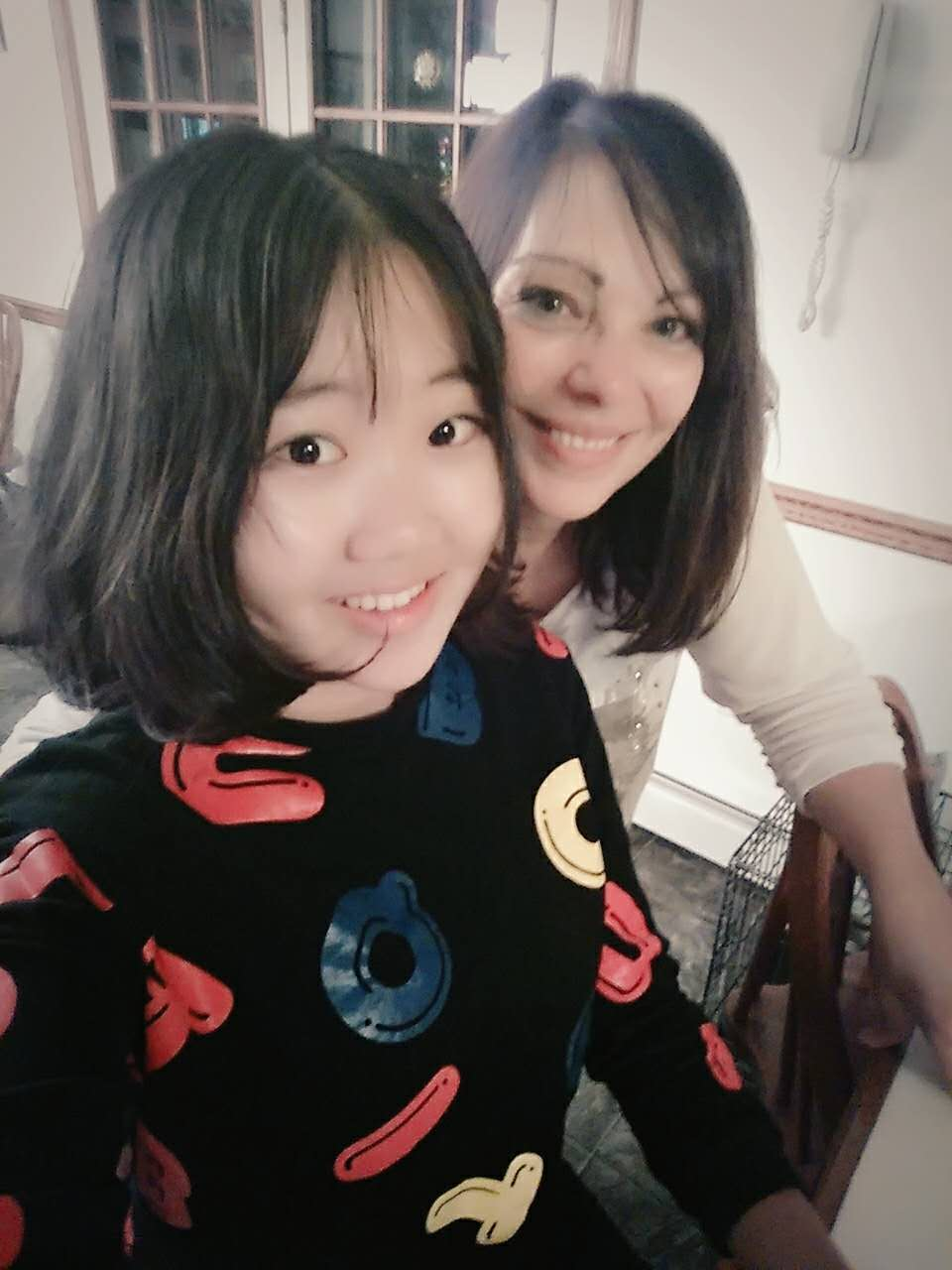 Cecilia and Host Mom