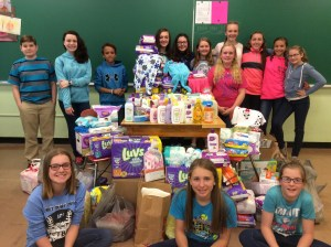 Sixth grade service project benefits local Maternity Closet