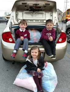 St. Boniface students donate items to Guardian Angel Center