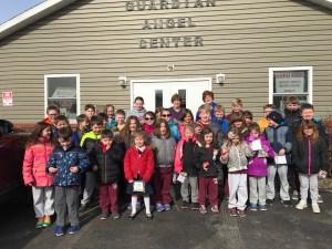SBCS students visit Guardian Angel Center