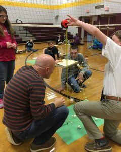 Middle school students participate in engineering challenge