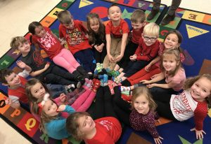 Preschool students celebrate Valentine's Day and Ash Wednesday
