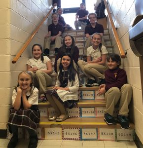 "Fourth graders ""step up"" their math game"