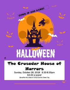 Crusader House of Horrors – Sunday, October 28