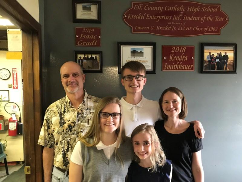 """Student of the Year"" Isaac Gradl visits Kreckel Enterprises Inc."
