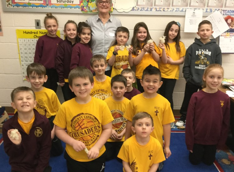 Second-graders learn the importance of farming from guest speaker