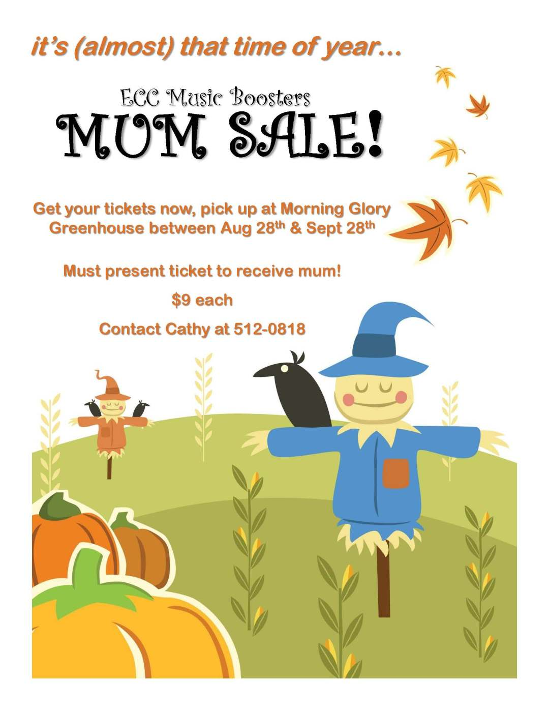 ECCSS-Music Boosters Mum Sale!