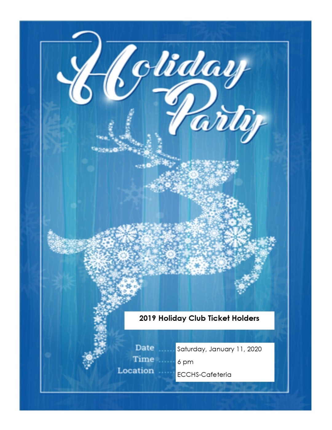 Holiday Club Party!
