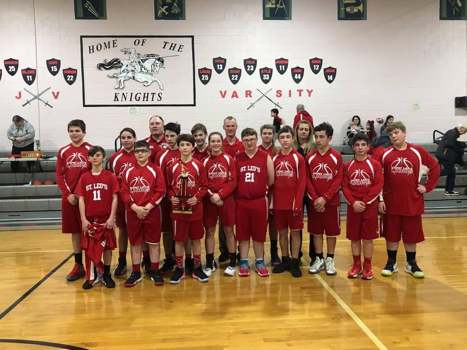 St. Leo 7th and 8th-grade basketball team takes 2nd at the St. Stephen tournament in Oil City!
