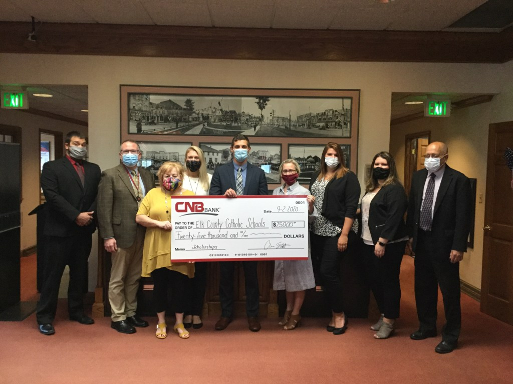 CNB Bank makes contribution to benefit community students at ECCSS