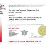 ASR Cert. # 3706 ECDC Cert. ISO 9001 Apr 2012