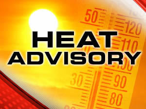 Heat advisory graphic