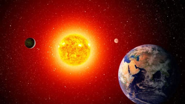 Earth revolving around sun