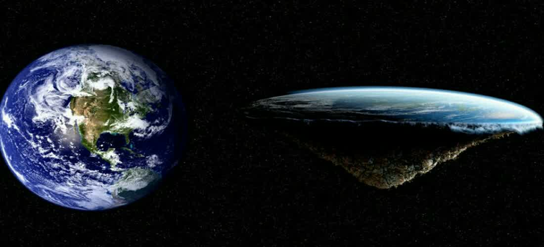 flat Earth versus spherical Earth