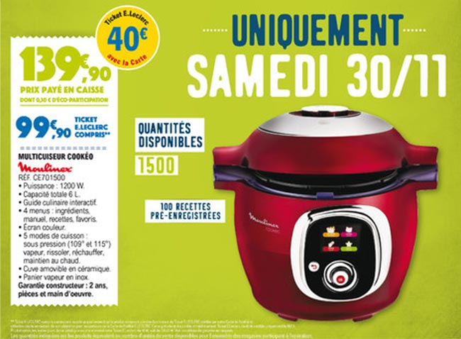 black friday leclerc cookeo a 99 90