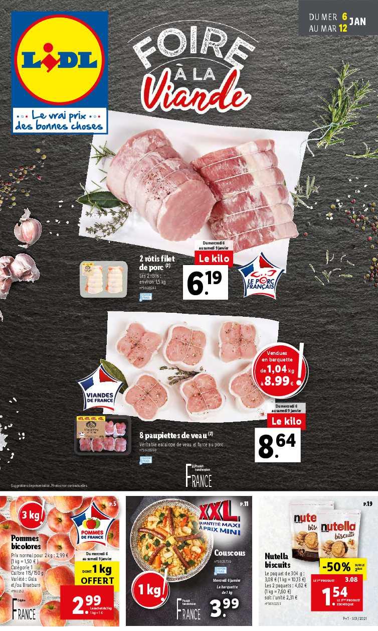 catalogue lidl foire a la viande du 6
