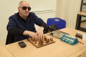 Championnat de Bourgogne d'échecs pour les personnes en situation de handicap. Gérard Lemoine (Dijon Académie du Jeu d'échecs Philidor), Vice-Champion de Bourgogne 2018-2019