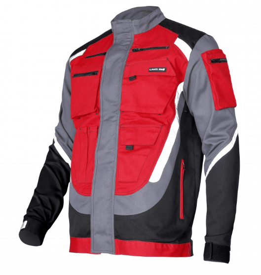 jacheta protectie lucru groasa rosu