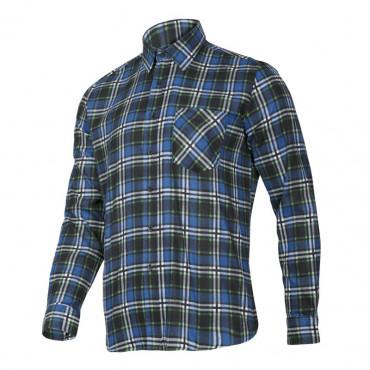 camasa flanel protectie albastru