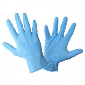 manusa protectie nitril albastru