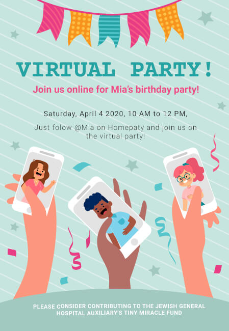 create a virtual party invitation
